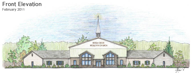 Floor Front Elevation Worship : Bcw church building project